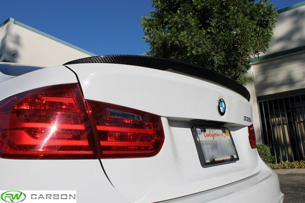 RW-Carbon-Fiber-BMW-Performance-Trunk-Spoiler-White-F30-335-1