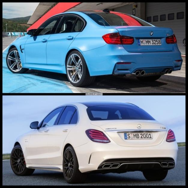 Bild-Vergleich-BMW-M3-F80-Mercedes-C63-S-AMG-Limousine-2014-021-750x750