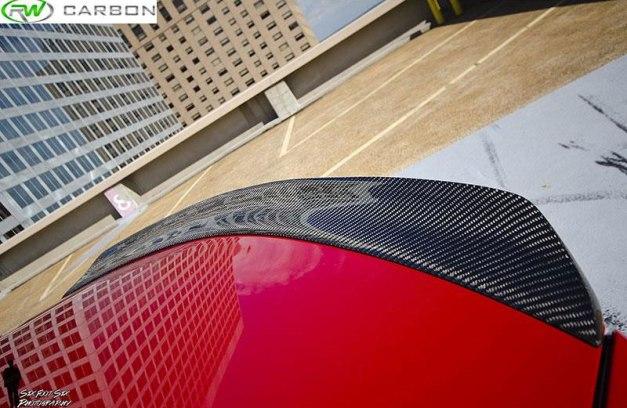RW-Carbon-Fiber-DTM-Style-Trunk-Spoiler-Mercedes-W204-C350-Red