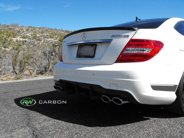 RW-Carbon-Fiber-AMG-Style-Trunk-Spoiler-Mercedes-W204-C63-507-1