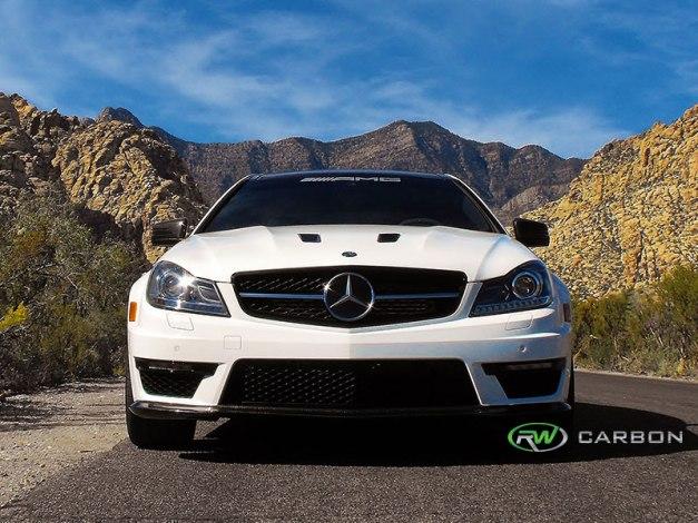 RW-Carbon-Fiber-Black-Series-Style-Front-Lip-Spoiler-Mercedes-W204-C63-AMG-507-1