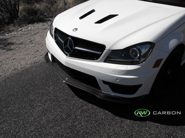 RW-Carbon-Fiber-Black-Series-Style-Front-Lip-Spoiler-Mercedes-W204-C63-AMG-507-2