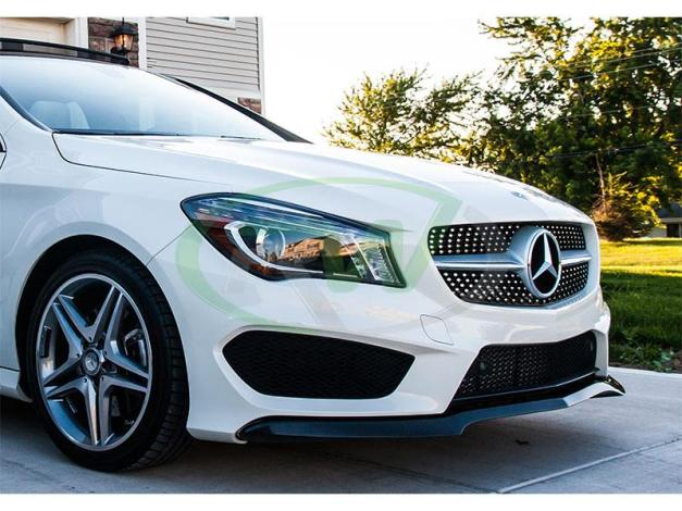 RW-Carbon-Fiber-Front-Lip-Spoiler-Mercedes-C117-CLA250-Sport-6