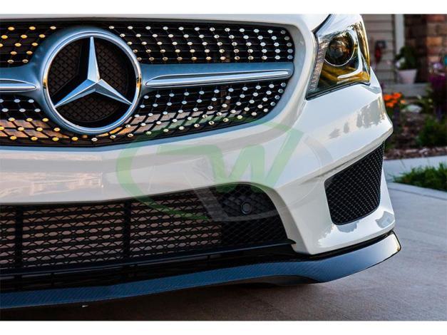 RW-Carbon-Fiber-Front-Lip-Spoiler-Mercedes-C117-CLA250-Sport-7