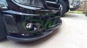 RW-Carbon-Fiber-Godhand-Front-Lip-Spoiler-Mercedes-C63-AMG-W204-Black-1