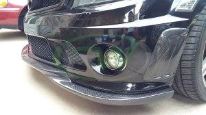 RW-Carbon-Fiber-Godhand-Front-Lip-Spoiler-Mercedes-C63-AMG-W204-Black-2