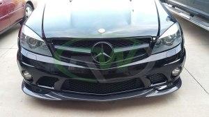 RW-Carbon-Fiber-Godhand-Front-Lip-Spoiler-Mercedes-C63-AMG-W204-Black-3