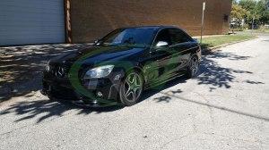 RW-Carbon-Fiber-Godhand-Front-Lip-Spoiler-Mercedes-C63-AMG-W204-Black-4