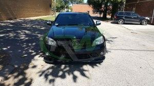 RW-Carbon-Fiber-Godhand-Front-Lip-Spoiler-Mercedes-C63-AMG-W204-Black-5