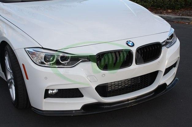 RW-Carbon-Fiber-Varis-Style-Front-Lip-Spoiler-BMW-F30-328d-1