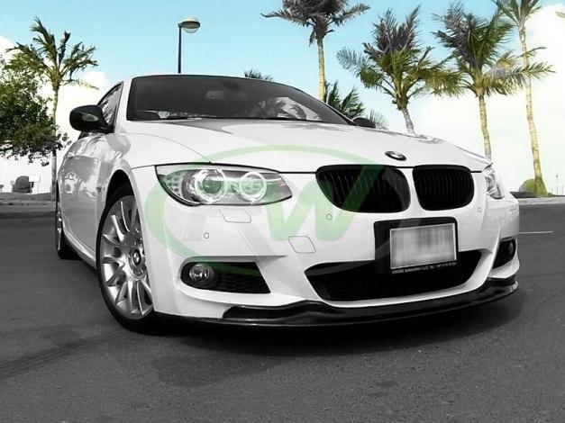 RW-Carbon-Fiber-Arkym-Style-Front-Lip-Spoiler-BMW-E92-335i-White-1 - Copy