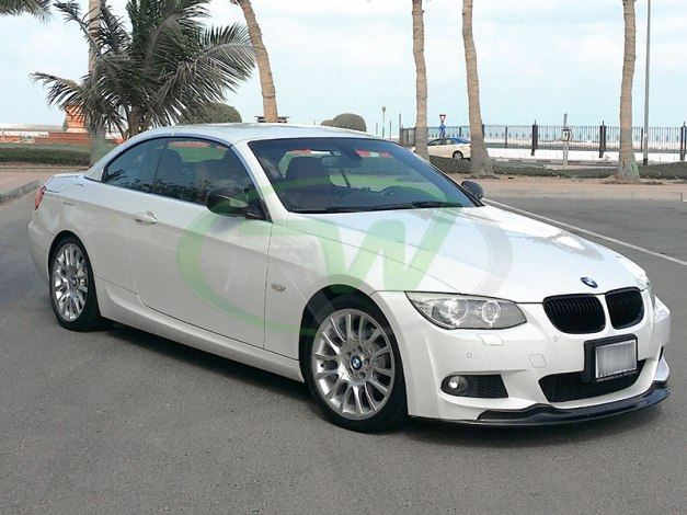 RW-Carbon-Fiber-Arkym-Style-Front-Lip-Spoiler-BMW-E92-335i-White-2 - Copy