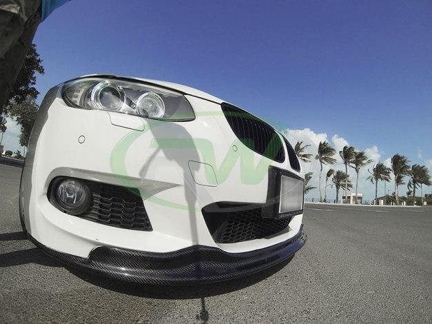RW-Carbon-Fiber-Arkym-Style-Front-Lip-Spoiler-BMW-E92-335i-White-3 - Copy
