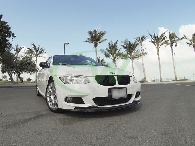 RW-Carbon-Fiber-Arkym-Style-Front-Lip-Spoiler-BMW-E92-335i-White-4 - Copy