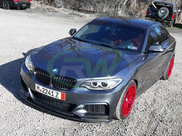 RW-Carbon-Fiber-3D-Style-Front-Lip-Spoiler-Grey-BMW-F22-M235i-1