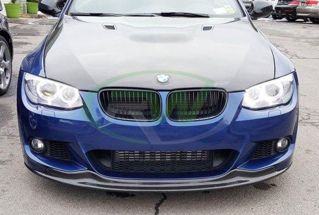 RW-Carbon-Fiber-Arkym-Front-Lip-Spoiler-BMW-E92-335i-LCI-blue-3