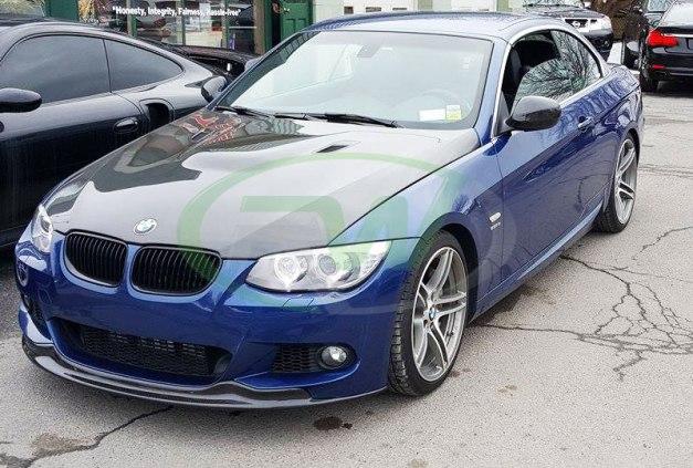 RW-Carbon-Fiber-Arkym-Front-Lip-Spoiler-BMW-E92-335i-LCI-blue-4