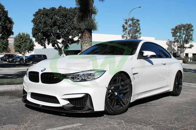 RW-Carbon-Fiber-M-Performance-Style-Lip-Spoiler-BMW-F82-M4-White-1
