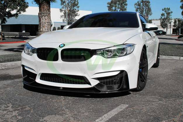 RW-Carbon-Fiber-M-Performance-Style-Lip-Spoiler-BMW-F82-M4-White-3