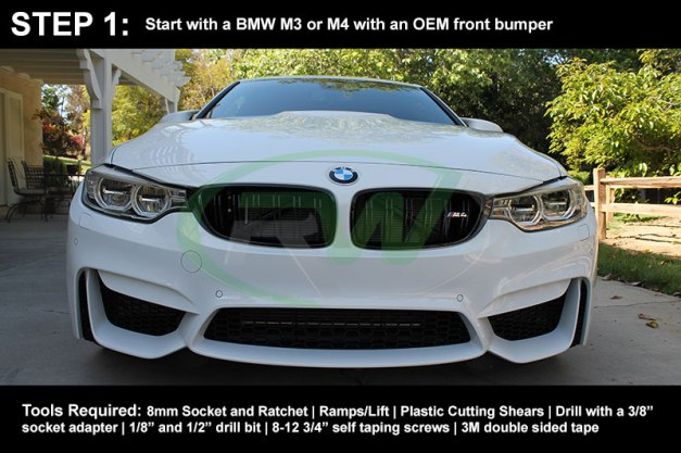 RW-Carbon-Install-Guide-BMW-F8X-M3-M4-Performance-Front-Lip-1