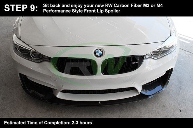 RW-Carbon-Install-Guide-BMW-F8X-M3-M4-Performance-Front-Lip-8