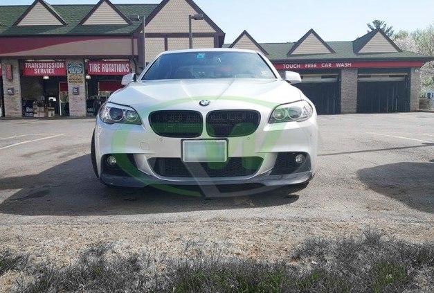 RW-Carbon-Fiber-V-Style-Front-Lip-Spoiler-BMW-F10-550i-Silver-1