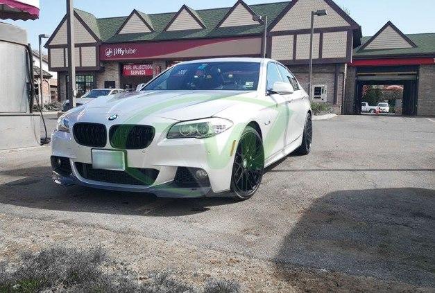 RW-Carbon-Fiber-V-Style-Front-Lip-Spoiler-BMW-F10-550i-Silver-2