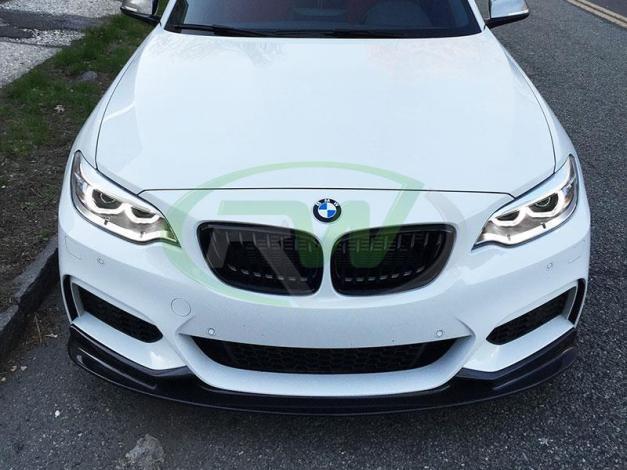 RW-Carbon-Fiber-3D-Front-Lip-Spoiler-BMW-F22-M235i-White-1
