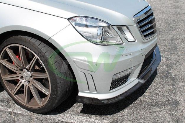 RW-Carbon-Fiber-Renn-Style-Front-Lip-Mercedes-E63-AMG-silver-12