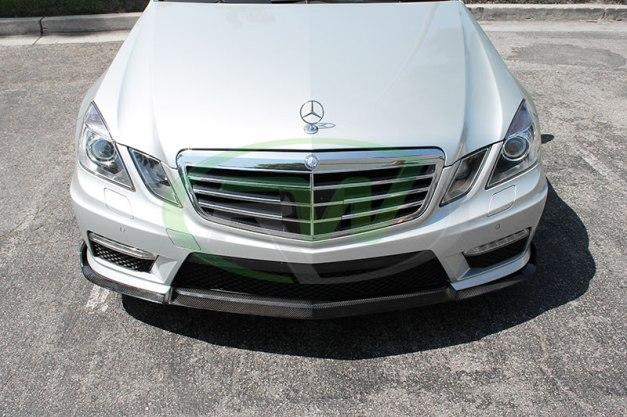 RW-Carbon-Fiber-Renn-Style-Front-Lip-Mercedes-E63-AMG-silver-2