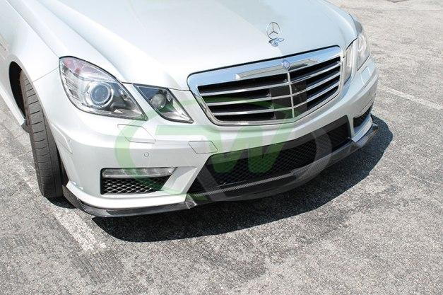 RW-Carbon-Fiber-Renn-Style-Front-Lip-Mercedes-E63-AMG-silver-4