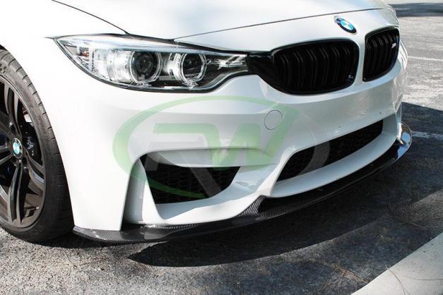 RW-Carbon-Fiber-3D-Style-Front-Lip-White-BMW-F82-M4-2
