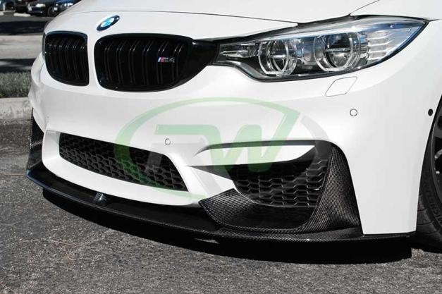 RW-Carbon-Fiber-M-Performance-Style-Lip-Spoiler-BMW-F82-M4-White-4