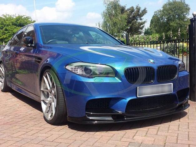 RW-Carbon-Fiber-3D-Style-CF-Lip-Spoiler-BMW-F10-m5-Blue-3