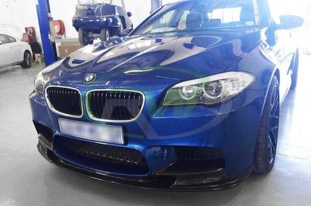 RW-Carbon-Fiber-3D-style-front-lip-BMW-F10-M5-blue-8