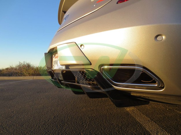 RW-Carbon-Fiber-Renn-Style-Diffuser-Mercedes-SLS-AMG-Silver-1