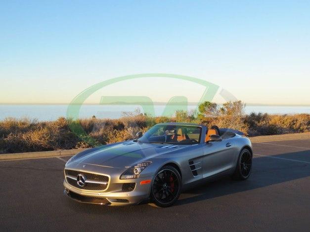 RW-Carbon-Fiber-Renn-Style-Front-Lip-Mercedes-SLS-AMG-Silver-3