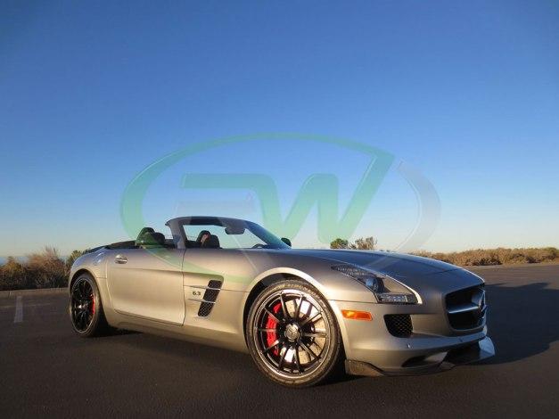 RW-Carbon-Fiber-Renn-Style-Front-Lip-Mercedes-SLS-AMG-Silver-6