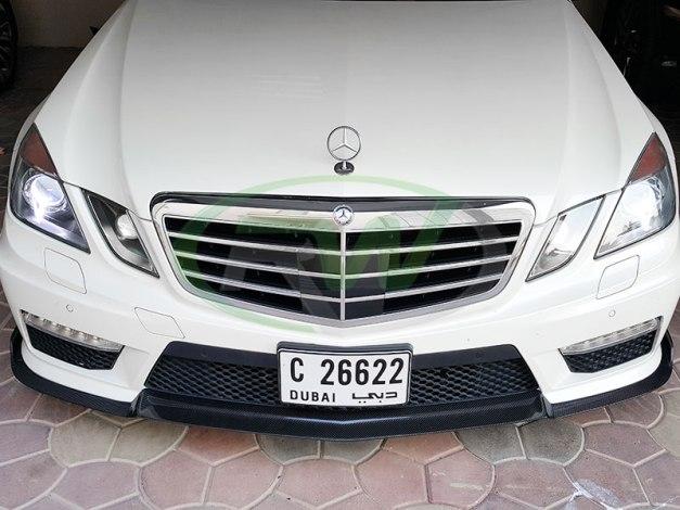 RW-Carbon-Fiber-Renn-Style-Front-Lip-Mercedes-W212-E63-AMG-white-3