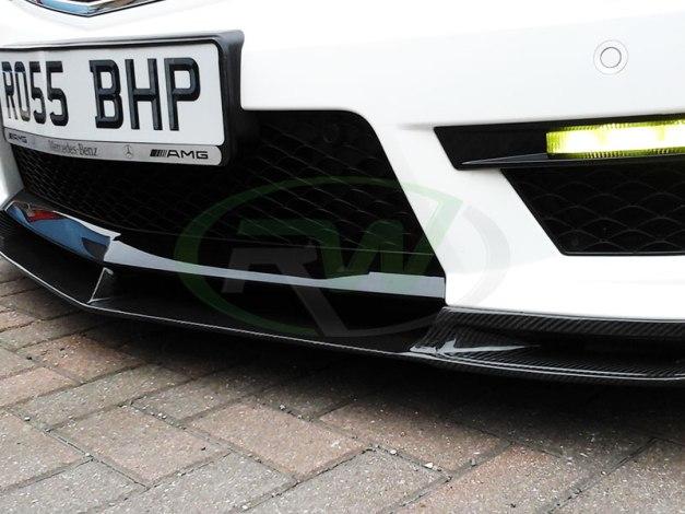 RW-Carbon-Fiber-DTM-Front-Lip-Merc-C63-AMG-5