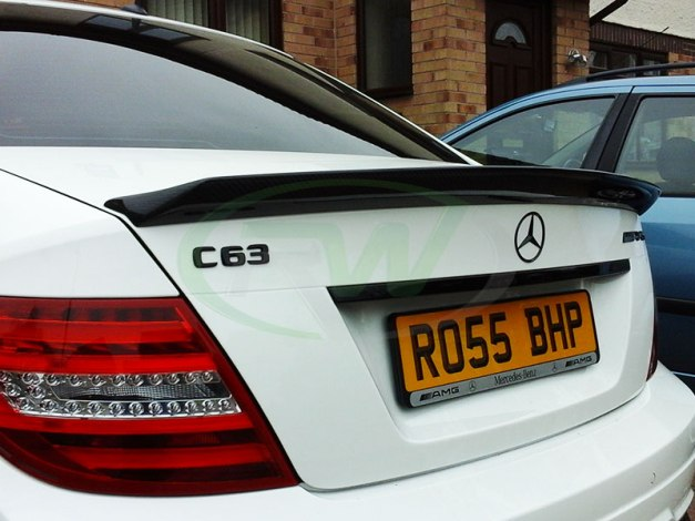 RW-Carbon-Fiber-DTM-Trunk-Spoiler-for-Merc-C63-AMG-2