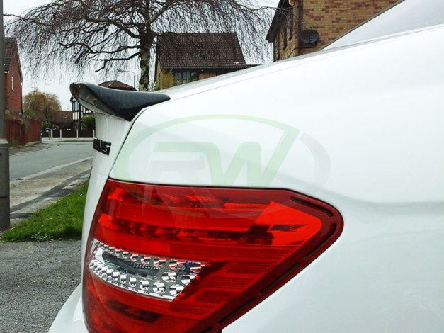 RW-Carbon-Fiber-DTM-Trunk-Spoiler-for-Merc-C63-AMG-3