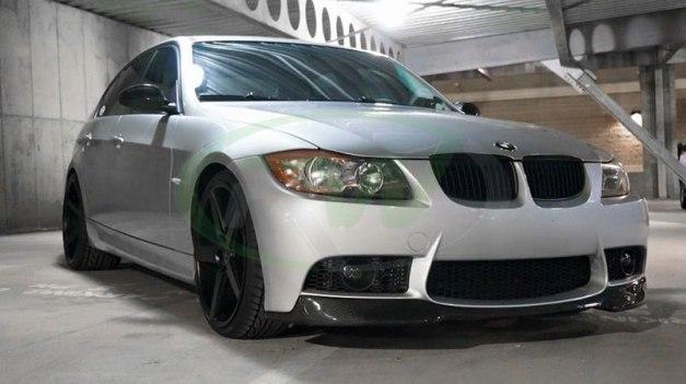 RW-Carbon-Fiber-V-Style-Lip-for-Silver-E90-M3-Bumper-1