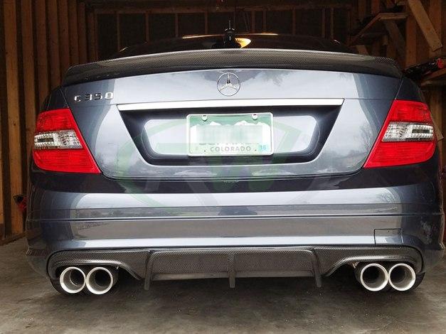 RW-Carbon-Fiber-Arkym-Diffuser-DTM-Trunk-Spoiler-Mercedes-W204-1