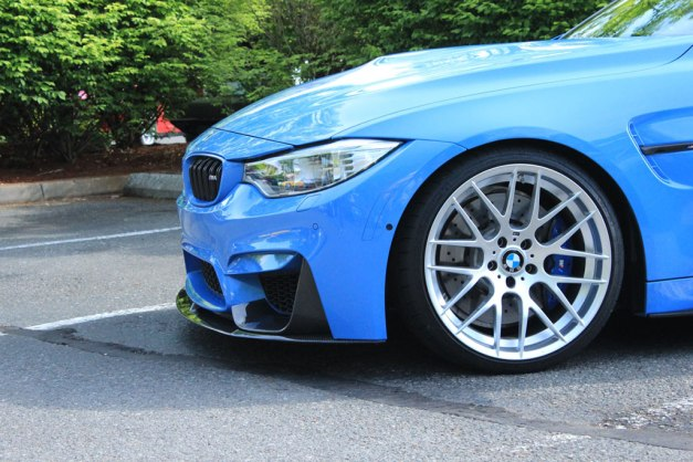 RW-Carbon-Fiber-Perf-Style-Front-Lip-on-a-Blue-BMW-F82-M4-2