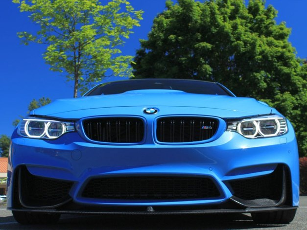 RW-Carbon-Fiber-Perf-Style-Front-Lip-Yas-Blue-BMW-M4-1