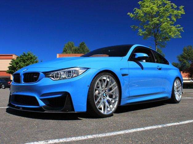 RW-Carbon-Fiber-Perf-Style-Front-Lip-Yas-Blue-BMW-M4-2