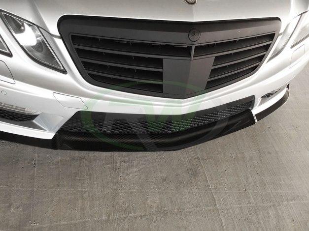 RW-Carbon-Fiber-Renn-Style-Front-Lip-Silver-Merc-W212-E63-2