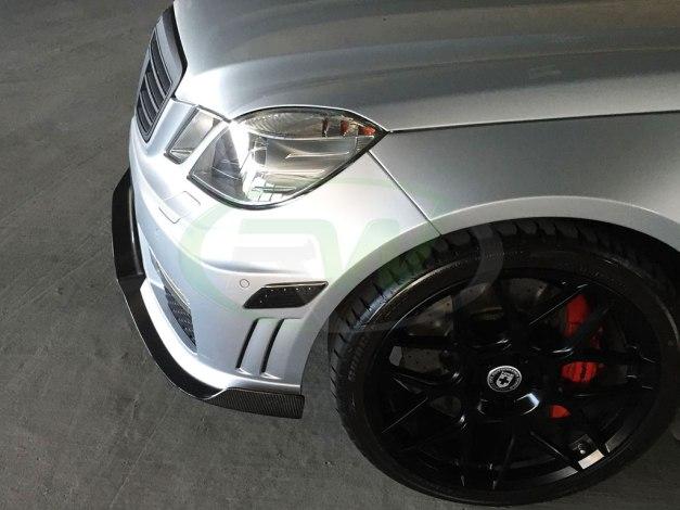 RW-Carbon-Fiber-Renn-Style-Front-Lip-Silver-Merc-W212-E63-3