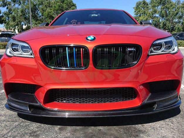 RW-Carbon-Fiber-3D-Style-Front-Lip-Red-BMW-F10-M5-1